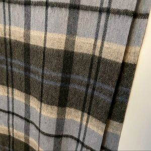 New! Plaid wool scarf